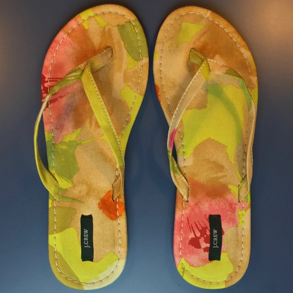 J. Crew Shoes - EUC J. Crew floral fabric sandals 8